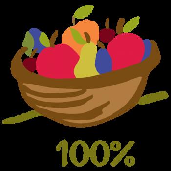 Pyré vždy obsahuje 100 % ovoce, které je uvedeno na obalu. Nikdy do něj nepřidáváme žádnou levnější náhražku.
